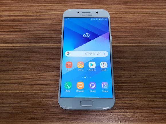 Samsung Galaxy A5 2017 SM-A520W 32GB Blue (Unlocked) Very Good Condition