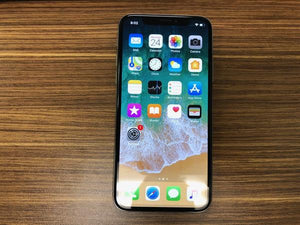 Apple iPhone X A1901 256GB - Silver - (Unlocked) Very Good Condition