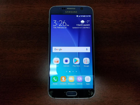 Samsung Galaxy S6 SM-G920W8 32GB Black Sapphire (Unlocked) - Fair Condition - gorecell