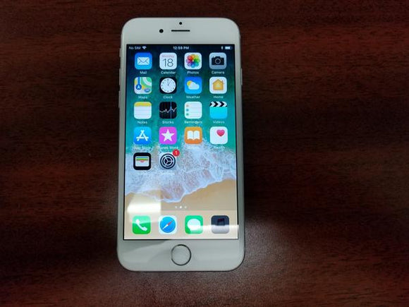 Apple iPhone 6 64GB A1549 - White and Silver (Sasktel) Good Condition