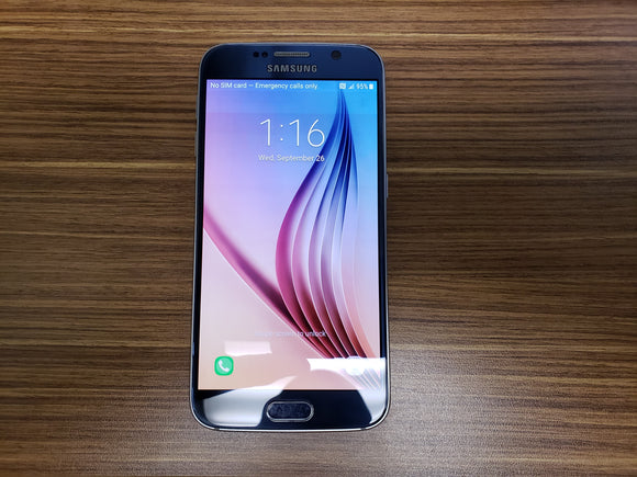 Samsung Galaxy S6 SM-G920W8 128GB Black Sapphire (Unlocked) Good (Pixel Burn)