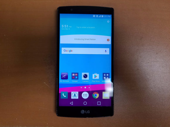 LG G4 H812 32GB Black Leather - (Unlocked) - Fair Condition Smartphone