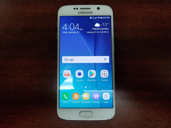 Samsung Galaxy S6 SM-G920W8 32GB White Pearl (Unlocked) - Good Condition