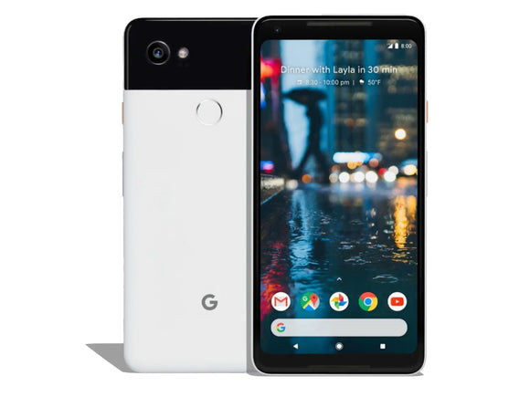 Google Pixel 2 XL 64GB Black & White - G011C (Unlocked) Good Condition