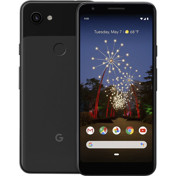 Google Pixel 3a G020G 64GB Just Black (Unlocked) Good (Some Burn)