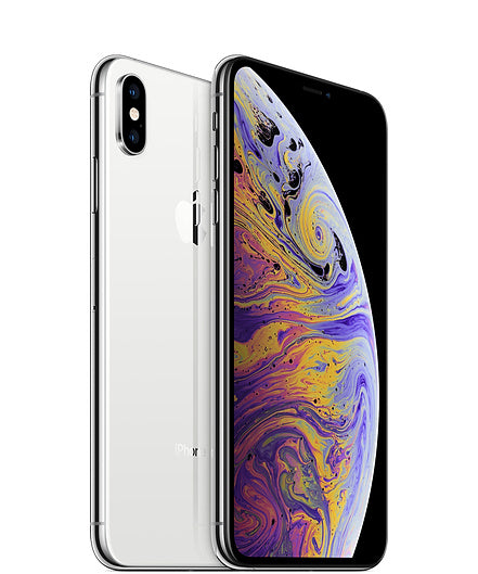 Apple iPhone XS Max A1921 64GB - Silver - (Unlocked) Good Condition