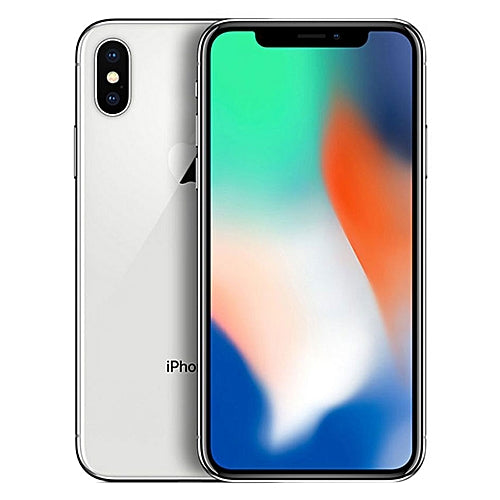 Apple iPhone X A1901 64GB - Silver - (Unlocked) Very Good Condition