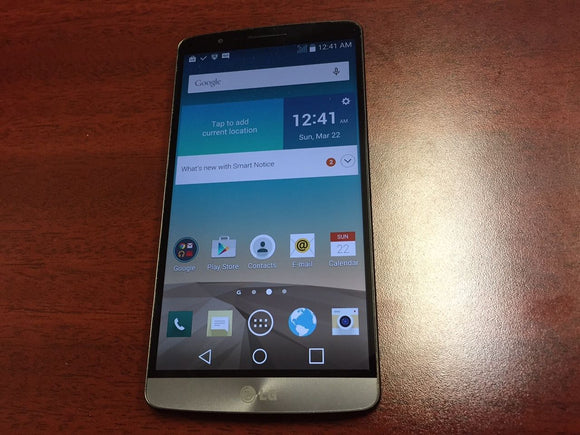 LG G3 D852 32GB Black - (Unlocked) - Good Condition Smartphone - gorecell