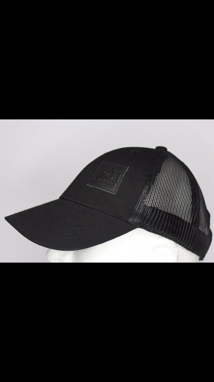Black Leather patch RR snap back