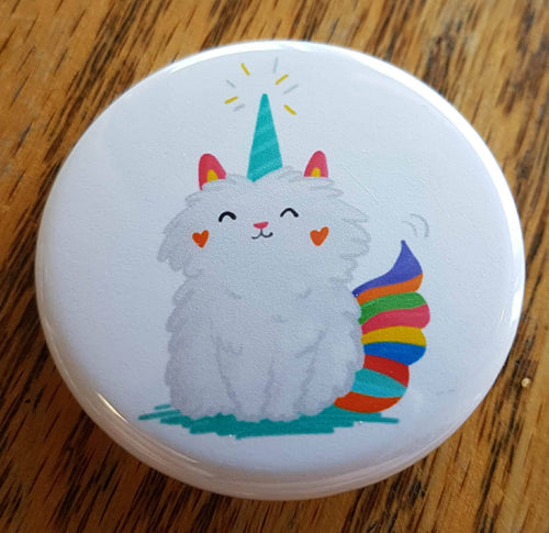 Meownicorn ~ Pinback Button