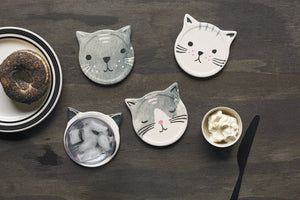 Ceramic Cat Coasters (set of 4)