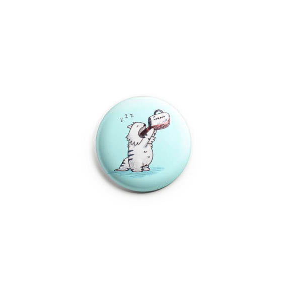 Coffee Cat ~ Pinback Button