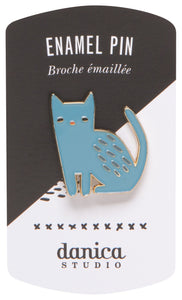 Enamel Pin - Blue Cat