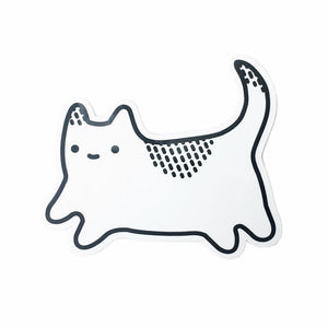 White Cat Sticker