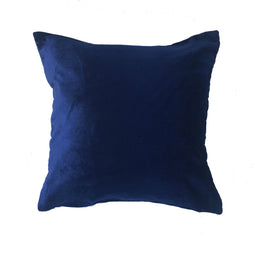 Velvet Pillow, Dark Blue - 16