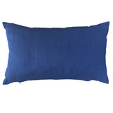 "Velvet Pillow, Dark Blue - 14"" X 24"""