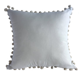 Woven Diamond Pattern Pillow, Natural/Black -  24