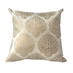 Pillow Ivory white viscose/cotton 16