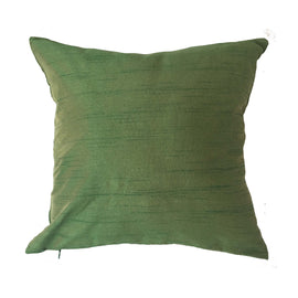 Lotus Pattern Pillow, Green - 16