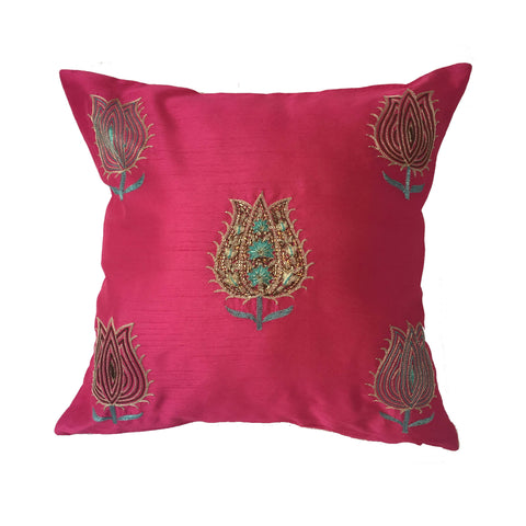 "pillow lotus pattern pink 16"" x 16"""