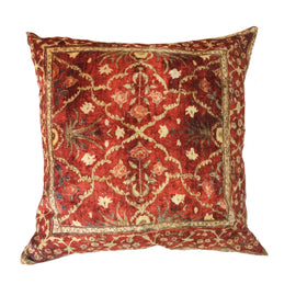 "Velvet Carpet Pillow, Red - 24"" x 24"""