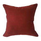 "Paisley Pattern  Printed Pillow, Burgundy Red - 24"" x 24"""