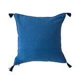 "Woven Arrow Pattern Pillow, Natural/Blue  - 18"" x 18"""