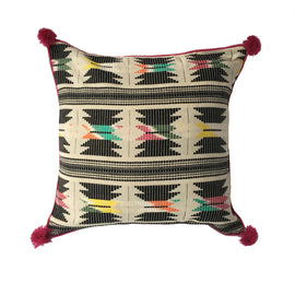 "pillow geometric pattern cotton 18"" x 18"""