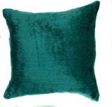 "Velvet Wallpaper Pattern, Teal Green - 16"" x 16"""