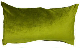 "Velvet Pillow - Apple Green - 14"" x 24 """