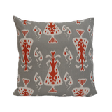 "pillow ikat pattern grey/orange 20"" x 20"""