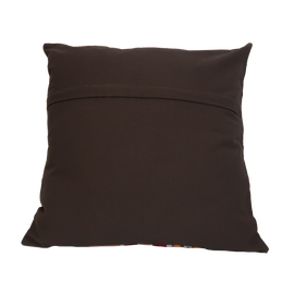 Suzani Style Brown/Multi Colour Embroidered Pillow - 20