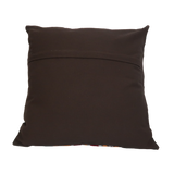 "Suzani Style Brown/Multi Colour Embroidered Pillow - 20"" x 20"""