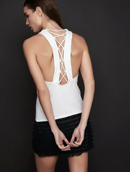 Lanston Lattice Back Tank at FerBenStyle.com