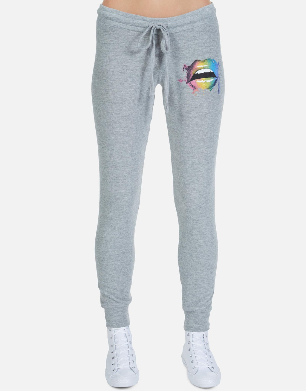 Kizzy Sweat Pant Rainbow Smudge Lip