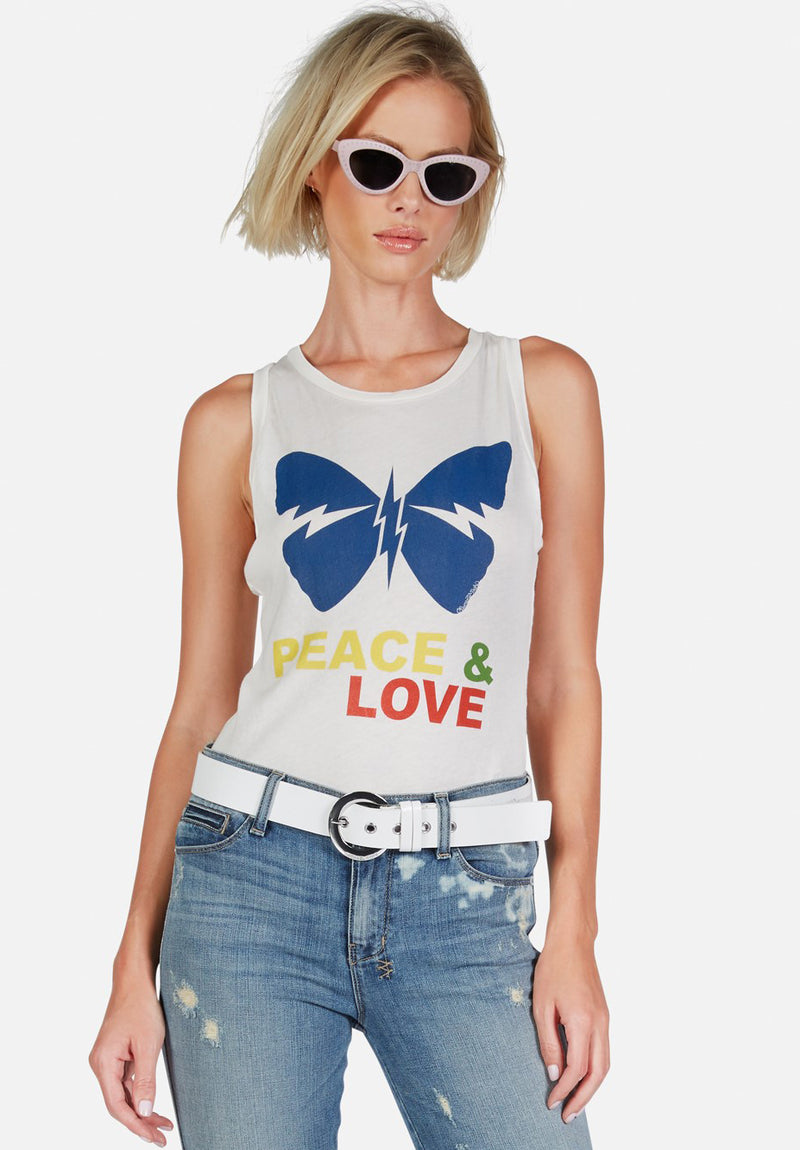 Peyton Peace Love Butterfly Tank