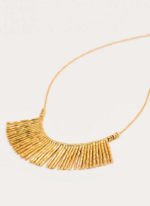 Kylie Fan Necklace Gold