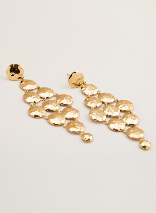 Gypset Tiered Earrings Gold