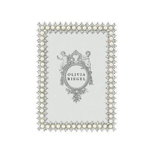 "Olivia Riegel Crystal and Pearl Frame, 4"" x 6"""