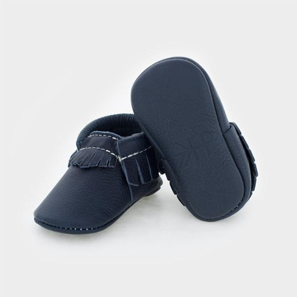 Freshly Picked Boys' Moccasins- Navy
