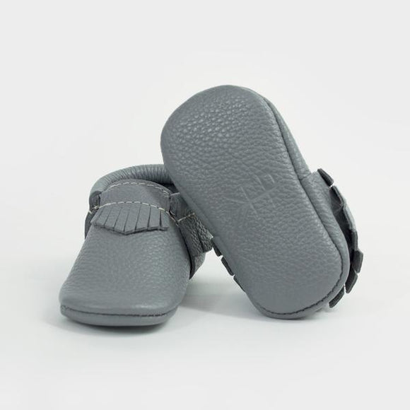 Freshly Picked Baby Moccasins- Slate