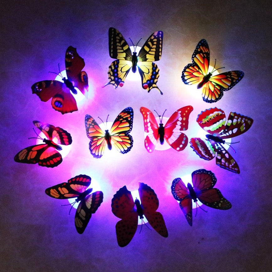 10pcs LED Butterfly Night Light