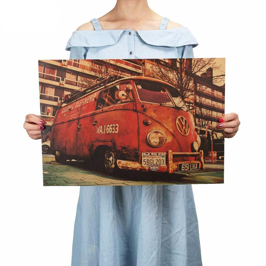 Classic VW Mini Bus Poster