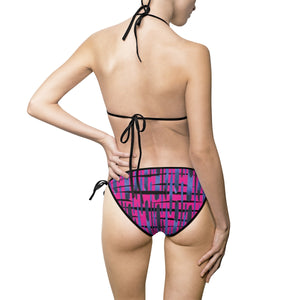 Pink Graffiti - Women's Bikini Swimsuit