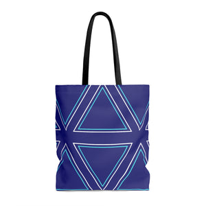 Try a Triangle -- Tote Bag (blue)