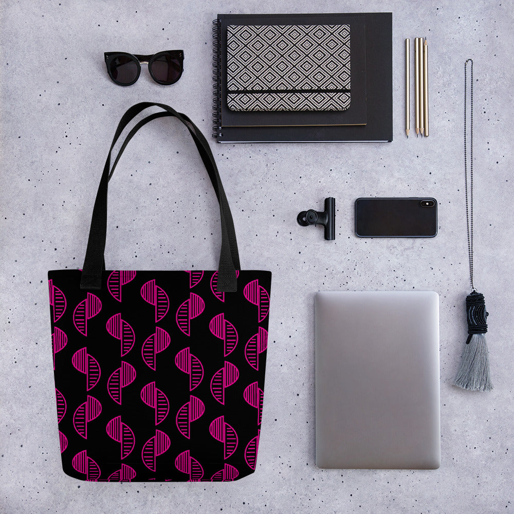 Black and Pink Shells Tote bag