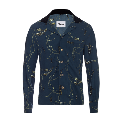 Underwater Vignettes: This Tombolo showcases diving scenes with sharks, squid, and more. Long-Sleeve, unisexy.
