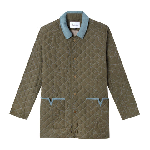 Quilted Jacket de Canard (Olive Green)