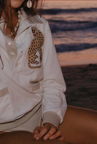 'Sun Leopard' Cabana (Long-Sleeve)