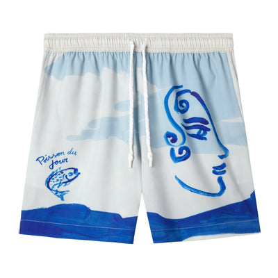 'Fishing Lines' x Hôtel Magique ~ Swim Trunks